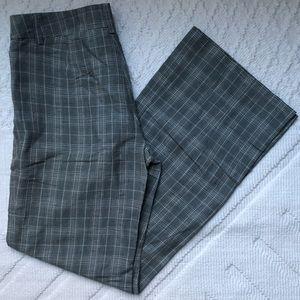 elevenses wide-leg plaid pants